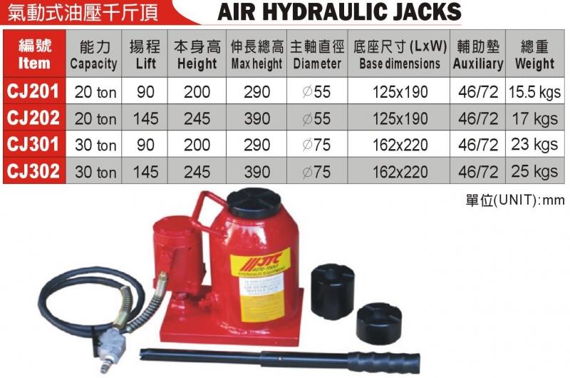 JTC-CJ201 氣動式油壓千斤頂